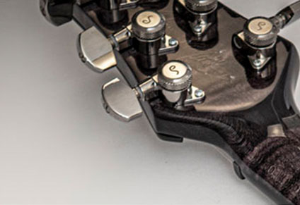 SCHALLER LOCKING TUNERS with EBONY KNOBS