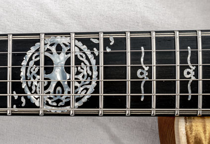 EBONY FINGERBOARD with CUSTOM INLAYS