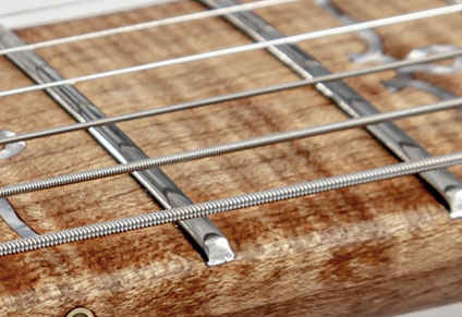 STAINLESS STEEL FRETS AND ROUNDED FRETBOARD EDGES