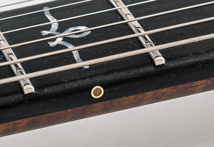 BRASS SIDE DOTS WITH WOODEN INLAYS